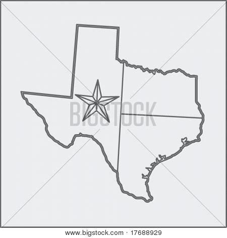 texas icon sketch