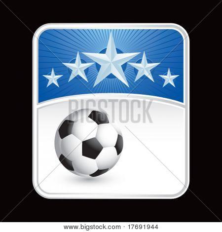 soccer ball on superstar background