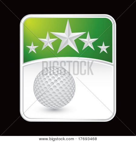 golf ball on superstar background