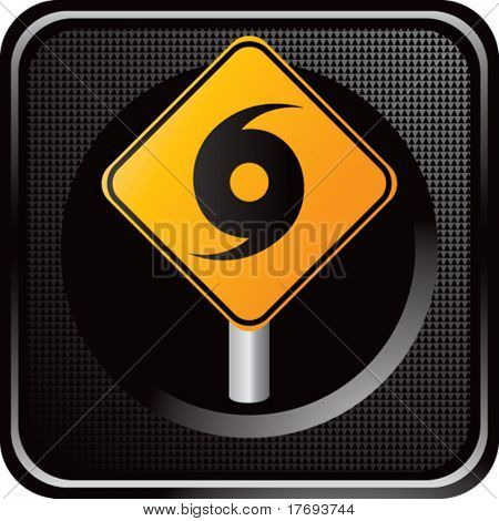hurricane sign on web icon
