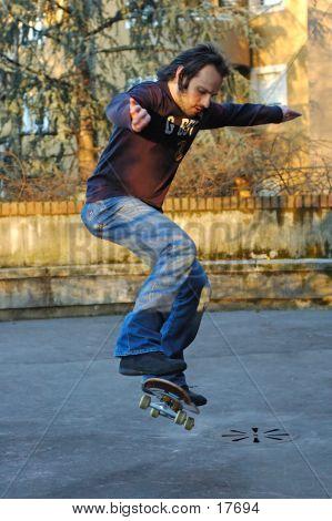 Junge Skateboard ich