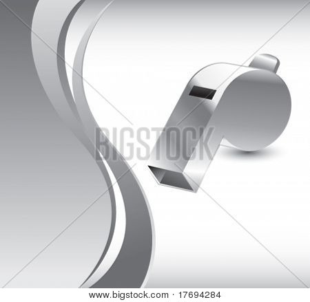 whistle on vertical wave background