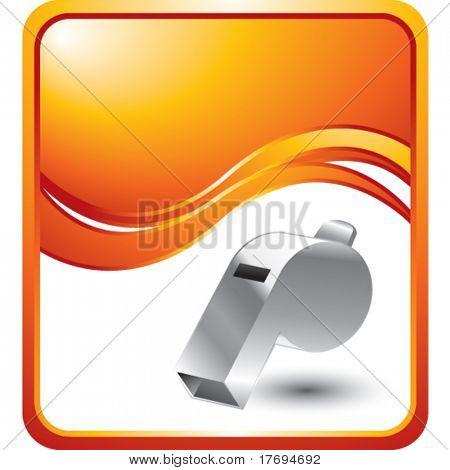 whistle on orange wave background