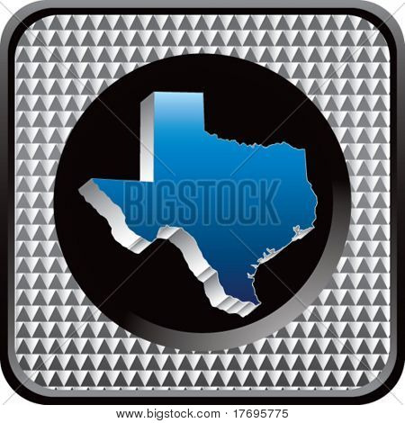 texas state on checkered web icon