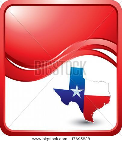 lonestar state of texas on red wave backdrop