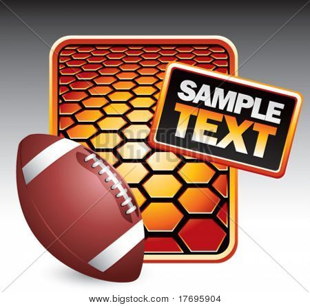 football on hexagon background