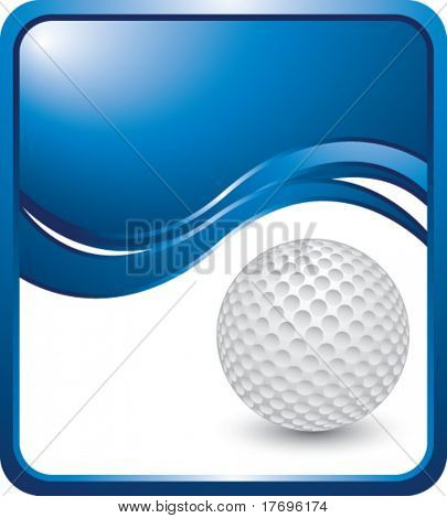 golf ball on modern style wave background