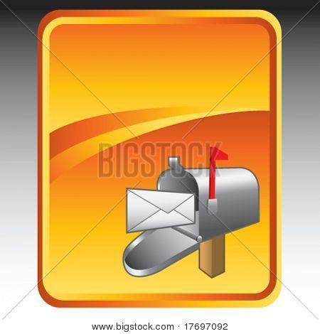 mailbox on orange background