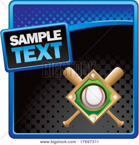 baseball bats and diamond on classy modern style grunge template