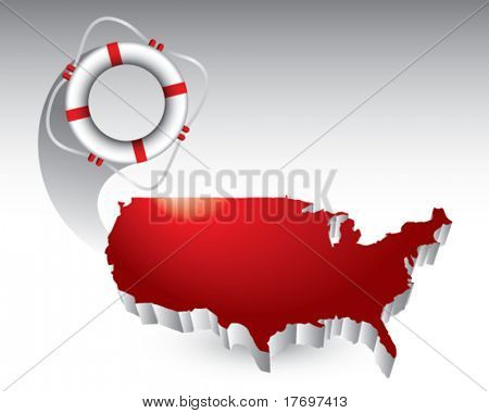 life ring featured with the united states