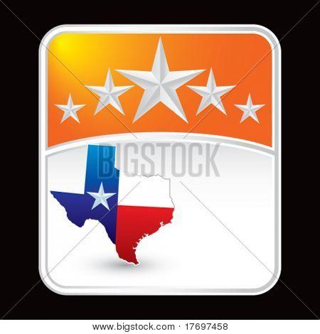 lonestar state on star background