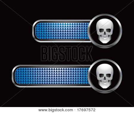 scary skull on blue checkered tabs