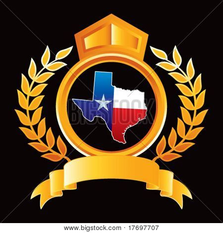 texas lonestar state on golden royal crest