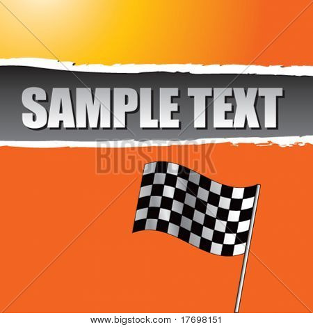 checkered flag on ripped background