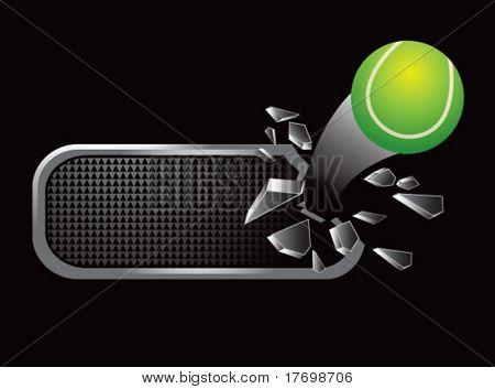 tennis ball shatters banner