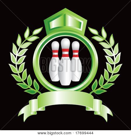 bowling pins on royal crest