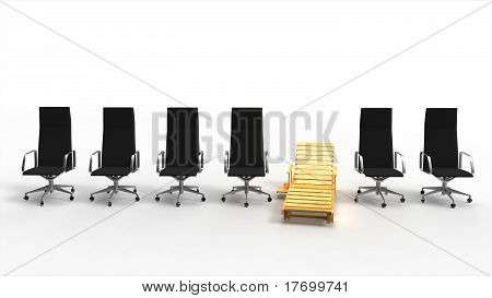 Desk Chair Among Office Chairs