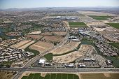 stock photo of ocotillo  - Aerial view of the Chandler - JPG