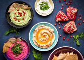 Colorful Hummus Bowls poster
