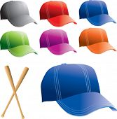 colored baseball caps