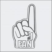 number one fan foam hand sketch