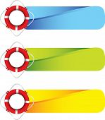 picture of sail-boats  - life ring on colored tabs - JPG