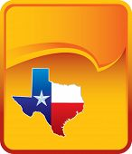 picture of texas flag  - texas icon on orange rip curl background - JPG