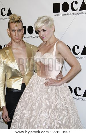LOS ANGELES - NOV 12: Jeremy Scott; Rosson Crow at the 2011 MOCA Gala, An Artist's Life Manifesto at MOCA Grand Avenue on November 12, 2011 in Los Angeles, California