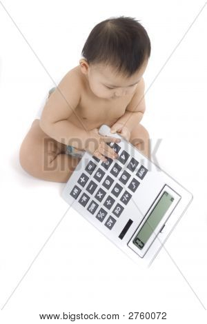 Baby With Calculator