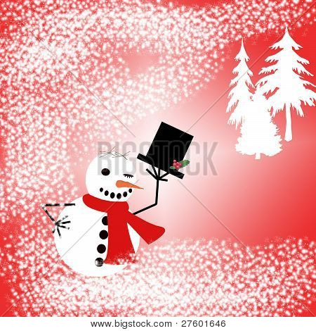 Snowman and Trees.eps
