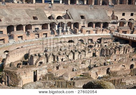 Ruins of the colloseum in Rome, Italy