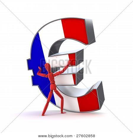 Mantendo-se o Euro - a bandeira francesa