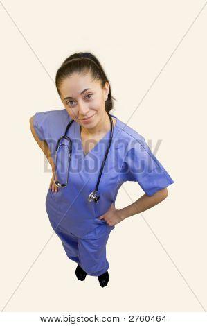 Nurse On White