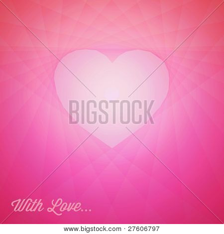 Vector red heart - Valentines card with place for your text