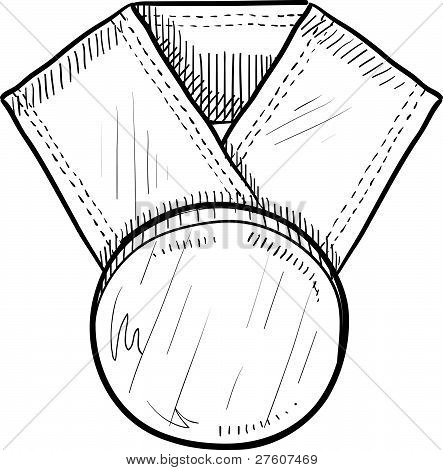 Blank award medal sketch
