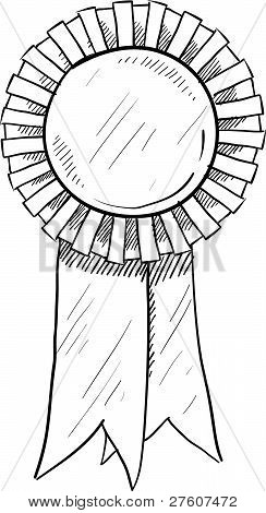 Blank award ribbon sketch