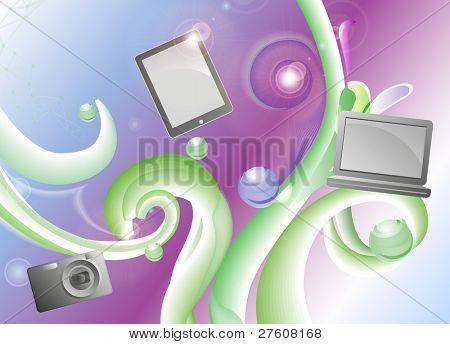 abstrakt Hintergrund mit digitalen Geräten platziert