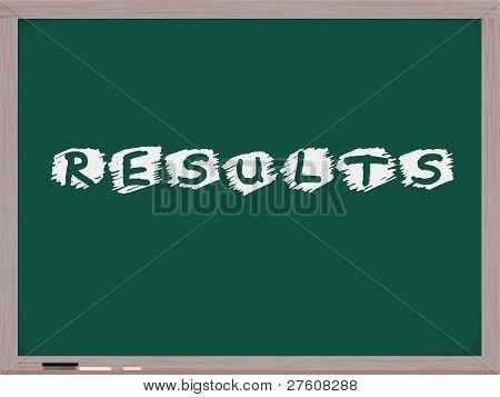 Results On Chalkboard