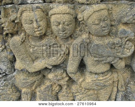 Buddist stone carving