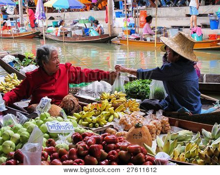 Thai Lebensmittel Verkäufern