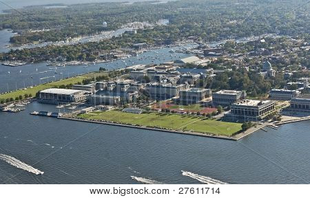 US Naval Academy and Annapolis- Aerial View