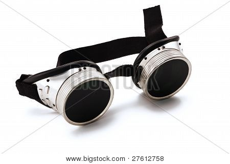 Shiny Metallic Protective Eyewear Glasses.