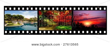 Film strip with different photos - life and nature (my photos)
