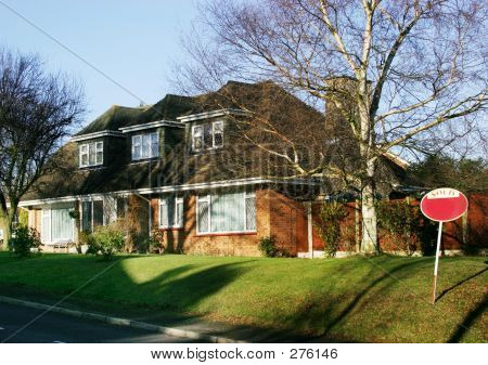 Detached House With Sold Sign