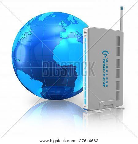 Conceito de comunicação e internet sem fio