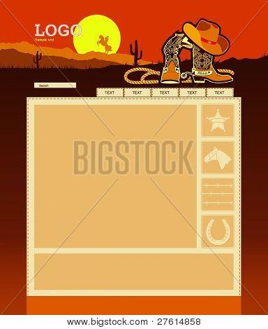 Cowboy Website Schablonen