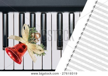 Christmas Bell On Keyboard