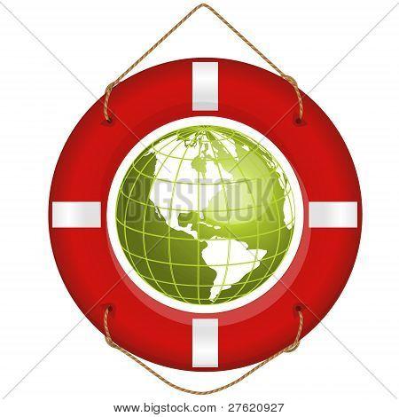 globe and lifesaver