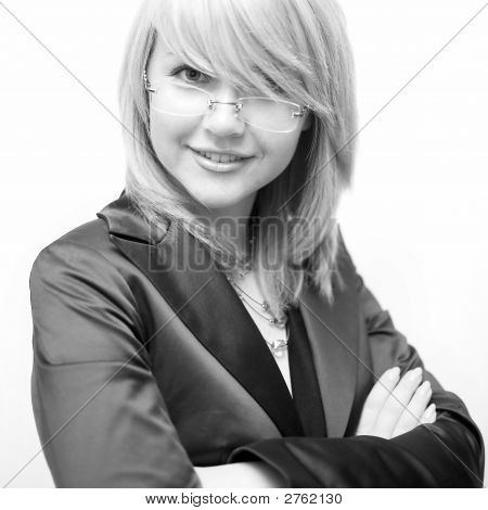 Businesswoman Look At Camera
