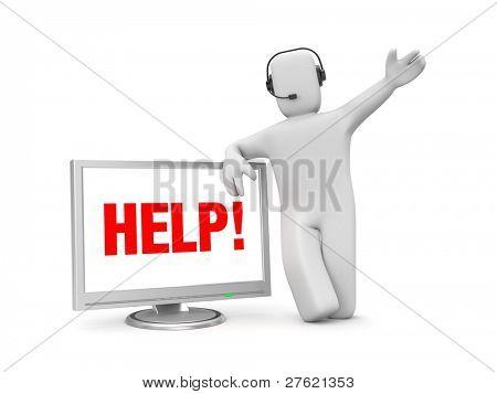 Ajudar a resolver a assistência de problemas